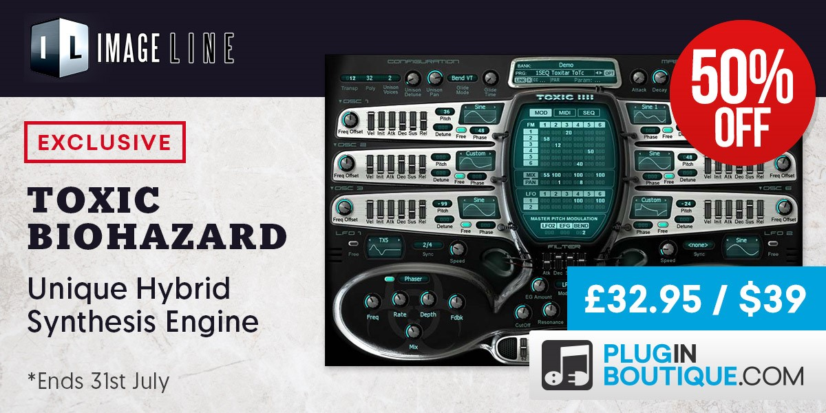 Image Line Toxic Biohazard Sale: Save 50% Off Exclusively at Plugin Boutique