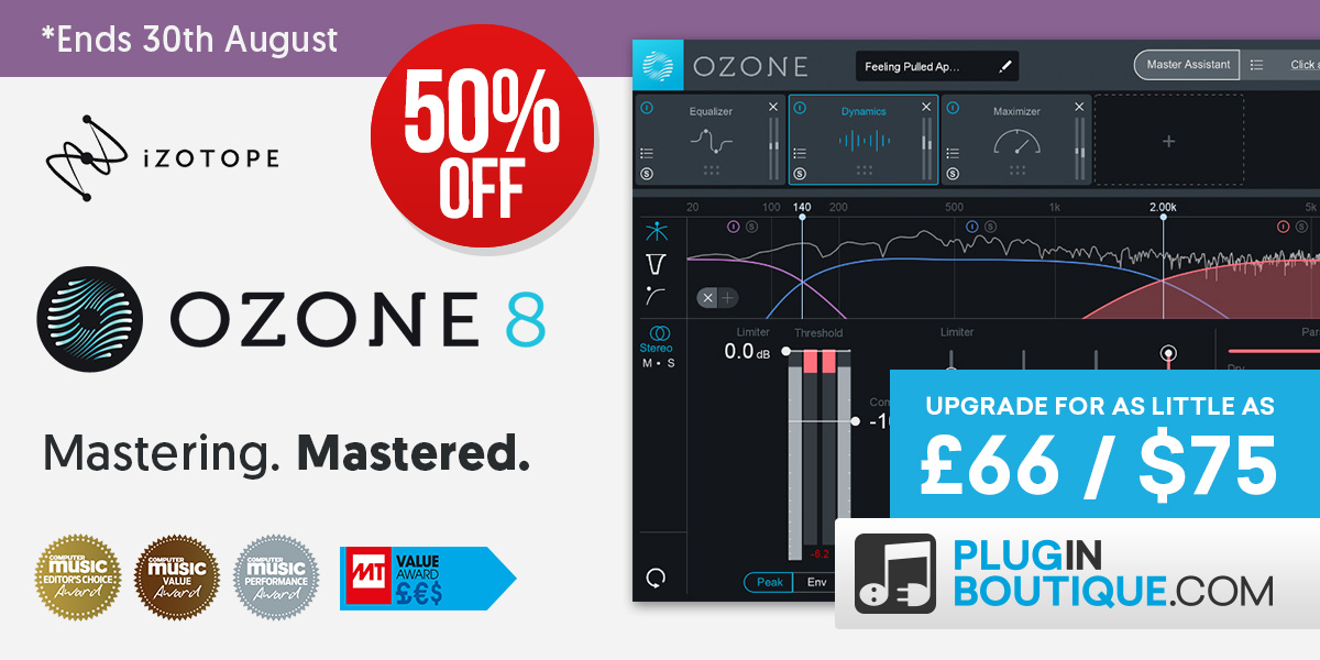 1200x600 izotope ozone 8 upgrade offer  august 18