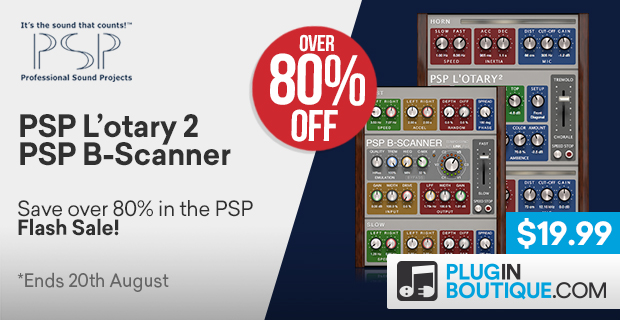 PSP L'otary2 and PSP B-Scanner Flash Sale, save over 80% off at Plugin Boutique