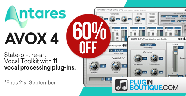 Antares AVOX 4 Sale, save 60% off at Plugin Boutique