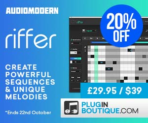 Audiomodern riffer banner 300x250 amended pluginboutique