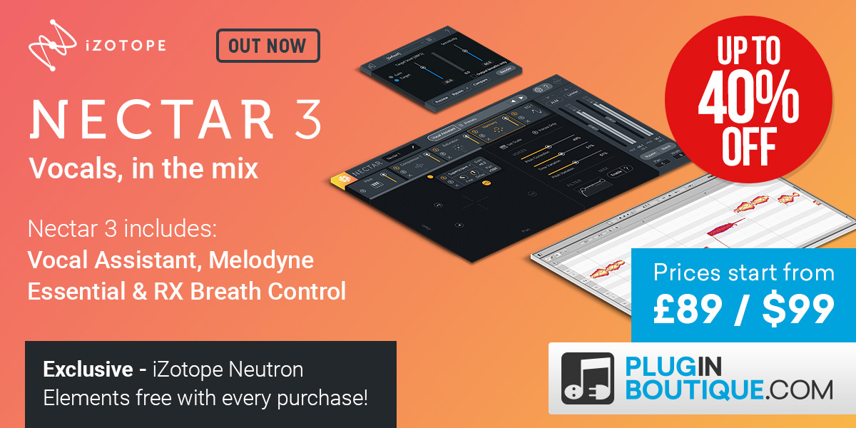 iZotope Nectar 3 Introductory Sale