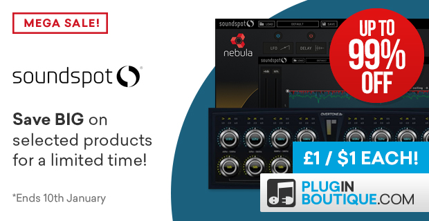 SoundSpot £1/$1 Exclusive Deals: Save with Big Reductions at Plugin Boutique