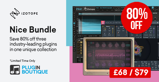 iZotope Nice Bundle Limited Time Sale, save 80% off at Plugin Boutique
