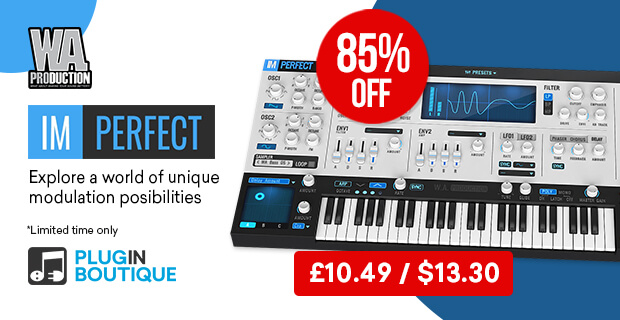 W.A Production ImPerfect Synth Sale, Save 85% off at Plugin Boutique
