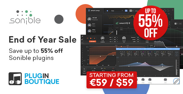sonible End of Year Sale: Save at Plugin Boutique