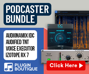 Plugin Boutique Podcaster Bundle, learn more at Plugin Boutique