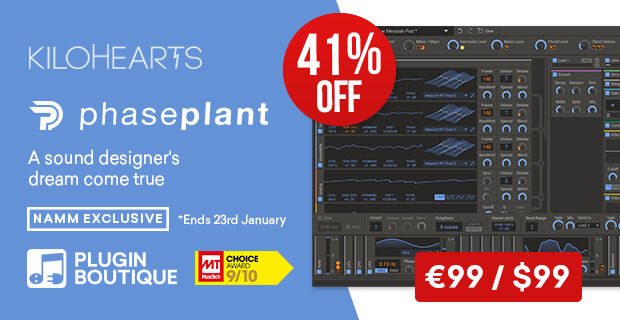 kiloHearts Phase Plant, save 41% off at Plugin Boutique
