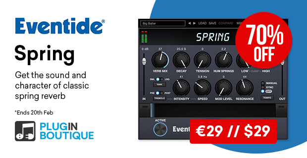 Eventide Spring Introductory Sale, save 70% off at Plugin Boutique