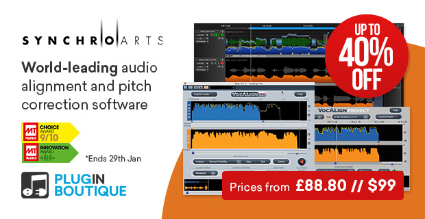Synchro Arts Introductory Sale, save up to 40% off at Plugin Boutique