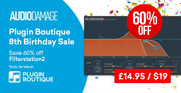 620x320 audiodamage filterstation birthday pluginboutique