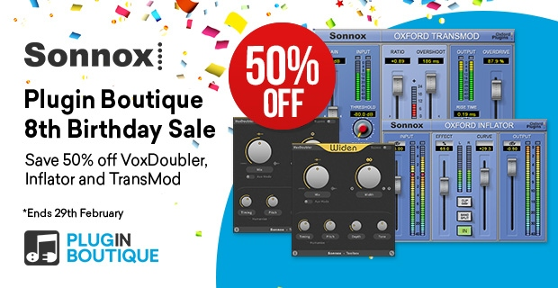 Sonnox Plugin Boutique Birthday Sale, Save 50% off at Plugin Boutique