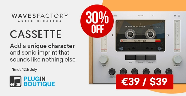 Wavesfactory Cassette Sale, Save 30% off at Plugin Boutique
