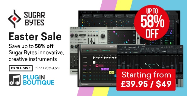 Sugar Bytes Easter Sale, Save up to 58% off at Plugin Boutique