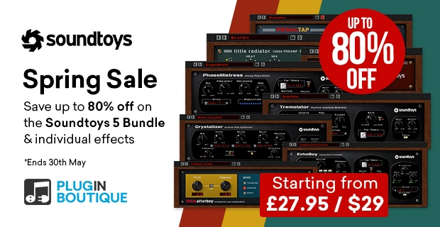Soundtoys Spring Sale, Save up to 80% off at Plugin Boutique