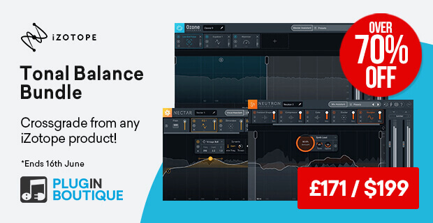 iZotope Tonal Balance Bundle Sale, save over 70% off at Plugin Boutique