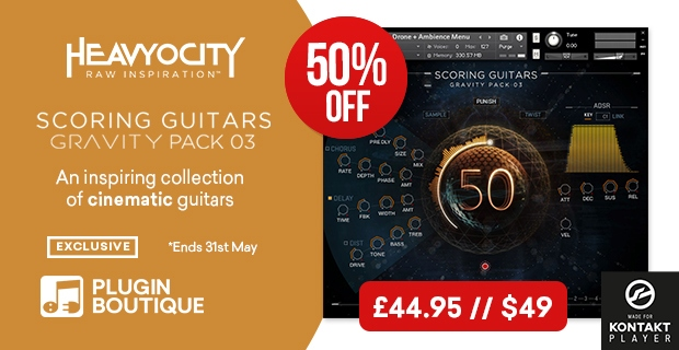 Heavyocity Scoring Guitars Sale, Save 50% at Plugin Boutique