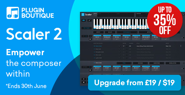 Plugin Boutique Scaler 2 Introductory Sale, save up to 35% off at Plugin Boutique