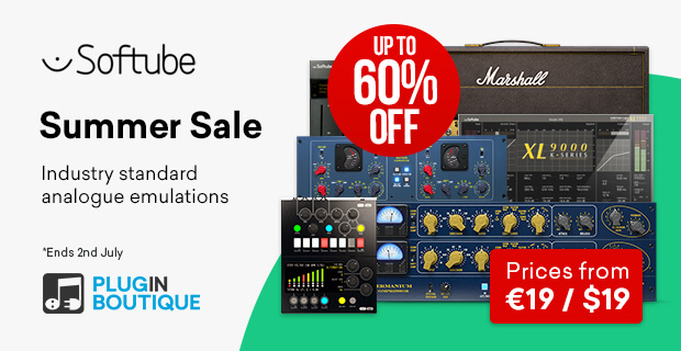 5. Softube Summer Sale (up to 62% off)