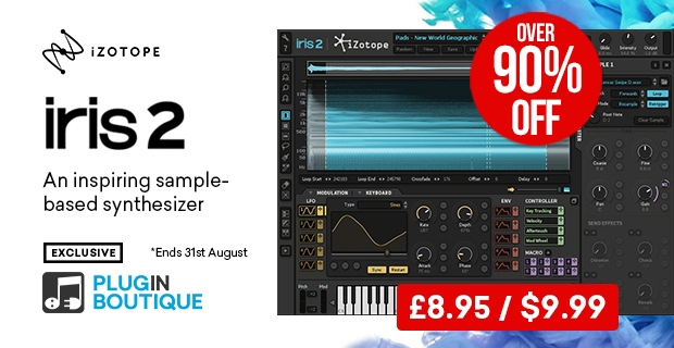 iZotope Iris 2 Sale, Save over 90% off at Plugin Boutique