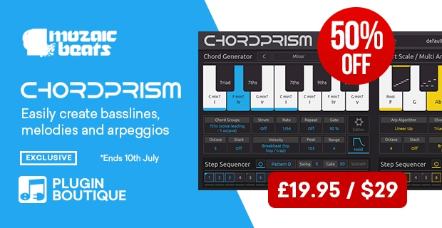 Mozaic Beats Chord Prism, Save 50% at Plugin Boutique