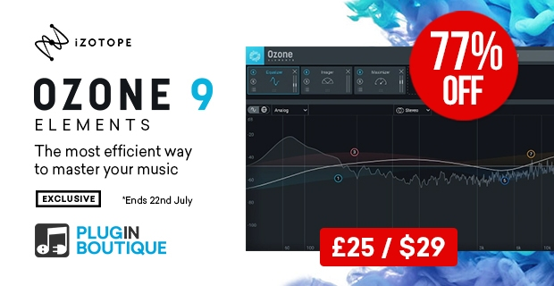 Ozone 9 Elementsがセールで約3,000円!