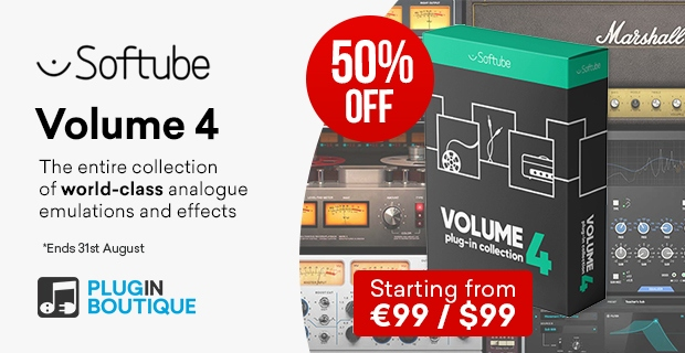 Softube Volume 4 sale, Save 50% off at Plugin Boutique