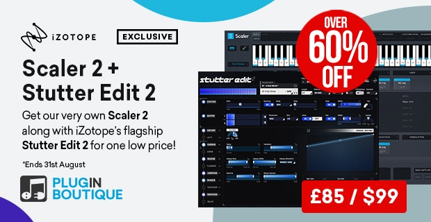Scaler 2 + Stutter Edit 2 Sale, save over 60% off at Plugin Boutique