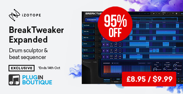 iZotope BreakTweaker Expanded Sale (Exclusive), save 95% off at Plugin Boutique