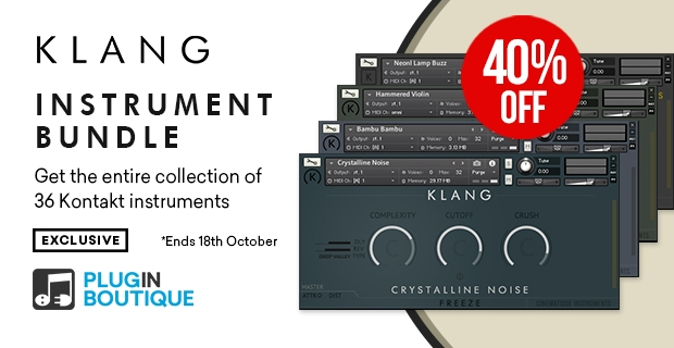 KLANG Kontakt Instrument Bundle Sale, save 40% off at Plugin Boutique