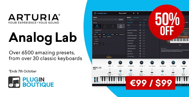 Arturia Analog Lab Sale, save 50% off at Plugin Boutique