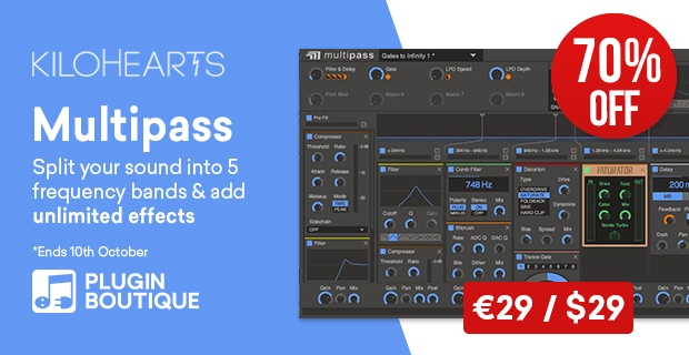 KiloHearts Multipass Sale, Save 70% off at Plugin Boutique