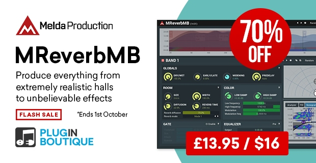 Melda MReverbMB Sale, Save 70% at Plugin Boutique