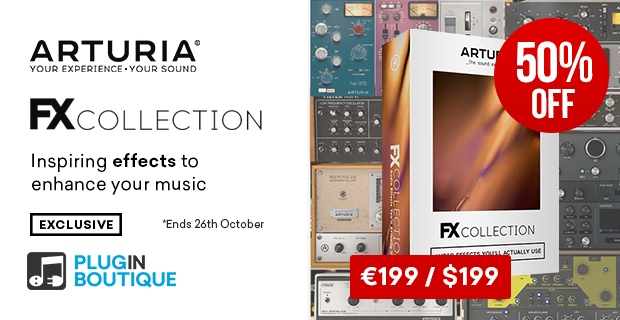 Arturia FX Sale, Save 50% off at Plugin Boutique