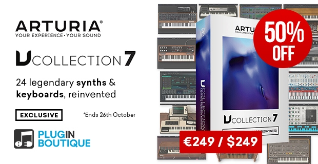 Arturia V Collection Sale, Save 50% off at Plugin Boutique