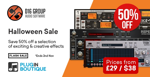 D16 Halloween Sale, save 50% off at Plugin Boutique