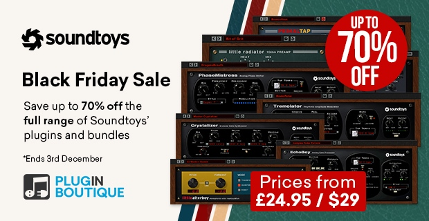 Soundtoys Sale, save up to 70% at Plugin Boutique