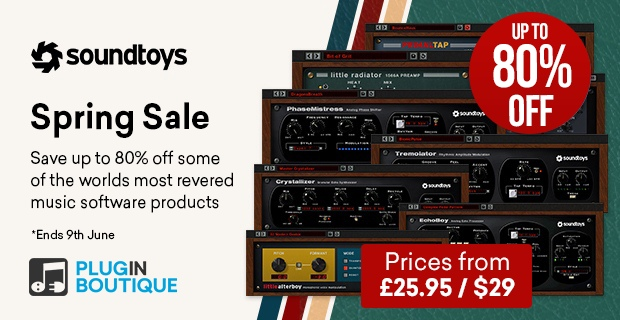 Soundtoys Holiday Sale, save up to 80% off at Plugin Boutique