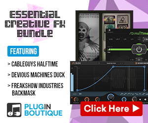 Essential Creative FX Bundle, learn more at Plugin Boutique