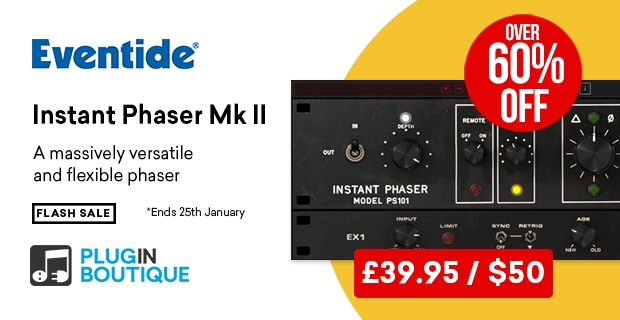 Eventide Instant Phaser MkII sale, save 60% off at Plugin Boutique