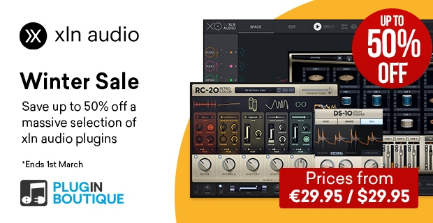 XLN Winter Sale, save up to 50% off at Plugin Boutique