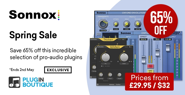 Sonnox Spring Sale, save 65% off at Plugin Boutique