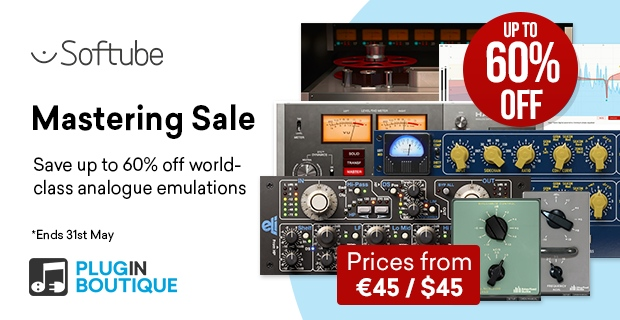 Softube Mastering Sale, save up to 60% off at Plugin Boutique