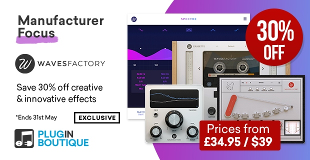 Wavesfactory Sale, save 30% off at Plugin Boutique